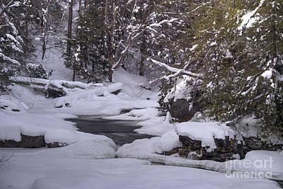 Photograph - Winter Scene In Mountains by Dan Friend