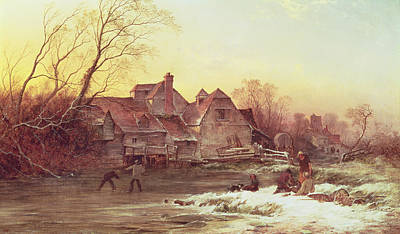 Snow Scene Painting - Winter Scene by Philips Wouwermans or Wouwerman