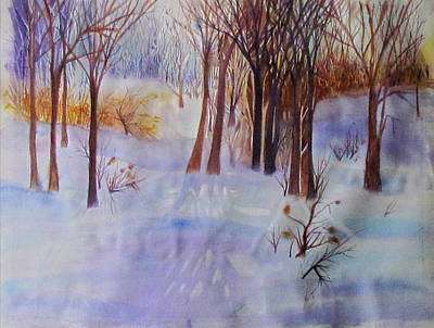 Painting - Winter Scene by Susan Duxter