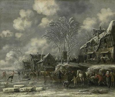 Winter Scene, Thomas Heeremans Art Print by Litz Collection