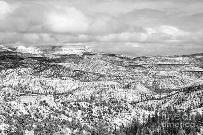 Winter Scenery In Bryce Canyon Utah Art Print by Julia Hiebaum