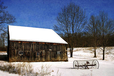 Christmas Holiday Scenery Photograph - Winter Scenic Farm by Christina Rollo