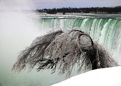 Photograph - Winter Sculpture By Niagara Mist by Peggy King