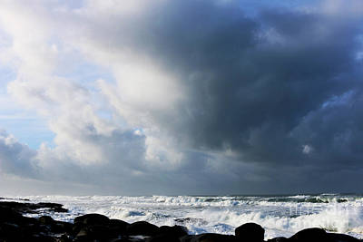 Photograph - Winter Sea Sky Drama by Jeanette French