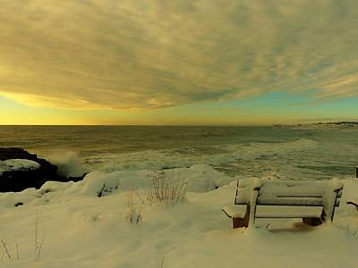 Photograph - Winter Seascape by Elaine Franklin
