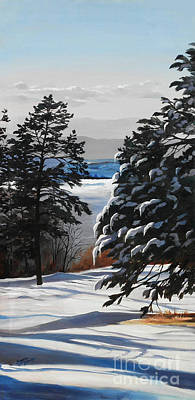 Winter Serenity Original by Suzanne Schaefer