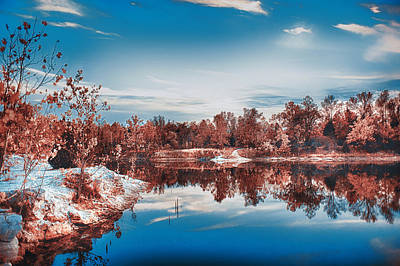 Winter Sets At Klondike Park Art Print
