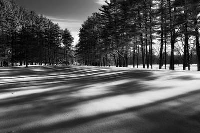 Connecticut Landscape Photograph - Winter Shadows by Bill Wakeley
