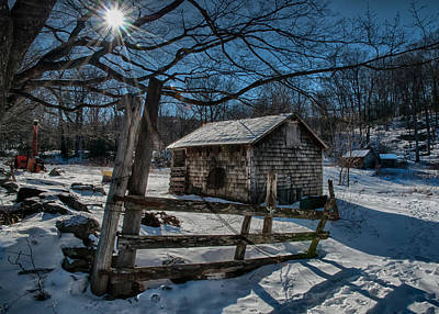Photograph - Winter Shed by Fred LeBlanc