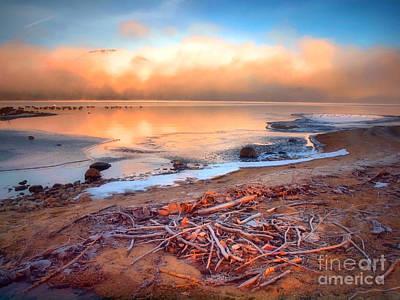 Okanagan Lake Photograph - Winter Shore by Tara Turner