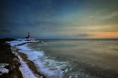 Winter Shoreline Art Print by Rick Berk
