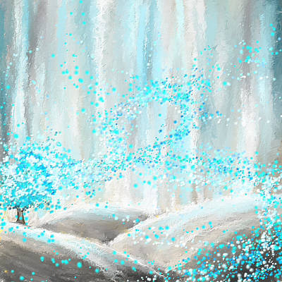 Recently Sold - Abstract Royalty-Free and Rights-Managed Images - Winter Showers by Lourry Legarde
