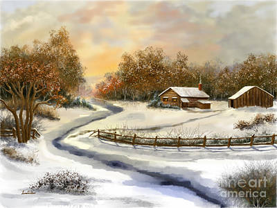 Painting - Winter Skies by Sena Wilson