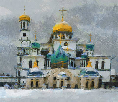 Digital Art - Winter Sky Church by Yury Malkov