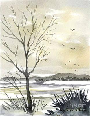 Winter Sky Art Print by Joan A Hamilton