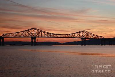 Photograph - Winter Sky Over Tappan Zee Bridge by John Telfer
