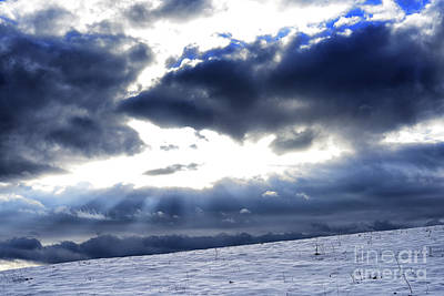 Winter Storm Photograph - Winter Sky by Thomas R Fletcher