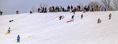 Photograph - Winter Sledding At Franke Park by Gene Sherrill