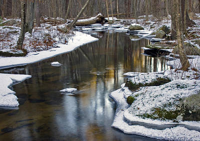 Photograph - Winter Snake Meadow Brook by Frank Winters
