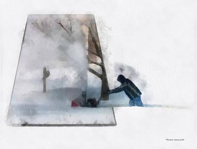 Winter Snow Blower Photo Art Art Print