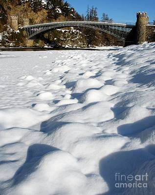 Winter Snow Craigellachie Bridge Scotland Print by John Kelly