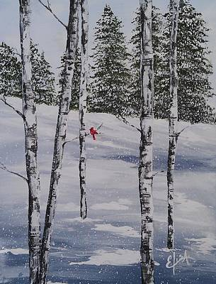 Wall Art - Painting - Winter Snow by Elisa Gabrielli