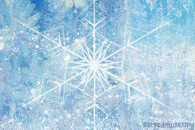 Winter Snow Flake Art Print by Sacred  Muse