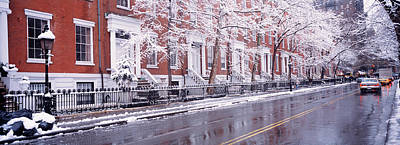 Winter, Snow In Washington Square, Nyc Art Print