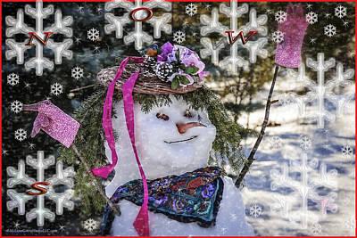 Father Photograph - Winter Snow by LeeAnn McLaneGoetz McLaneGoetzStudioLLCcom