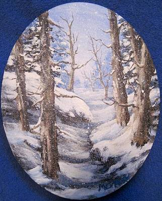 Art Print featuring the painting Winter Snow by Megan Walsh