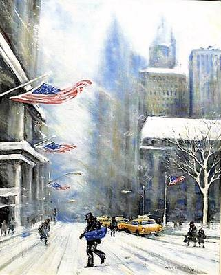 Winter Snow Nyc Art Print