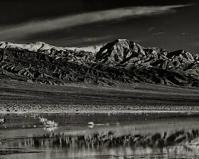 Panamint Valley Photograph - Winter Snow Panamint Range Inyo County Ca by Troy Montemayor