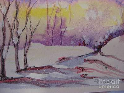 Painting - Winter Snow Scene by Gretchen Allen