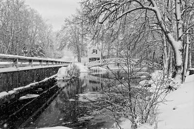 Winter In Maine Photograph - Winter Snow Storm In Somesville Maine by Keith Webber Jr