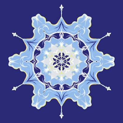 Digital Art - Winter Snowflake Abstract by MM Anderson