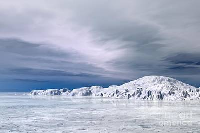 Snowscape Digital Art - Winter Snowscape - 4 by Fairy Fantasies