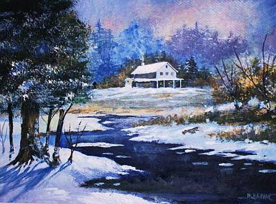 Painting - Winter Solitude by Al Brown