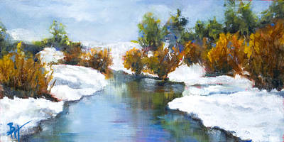 Sunriver Painting - Winter Solitude by Bonnie Junell