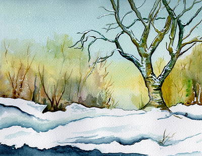 Winter Solitude Art Print by Brenda Owen