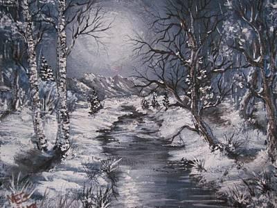 Winter Solstice Art Print by Megan Walsh