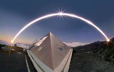 Mountain View Photograph - Winter Solstice Solar Trail by Juan Carlos Casado (starryearth.com)