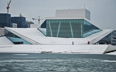 Oslo Opera House Photograph - Winter Song by Peter Russell