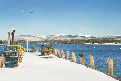 Photograph - Winter Southwest Harbor Mount Desert Island  by Keith Webber Jr