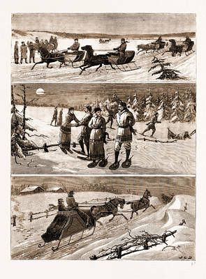 Nova Scotia Drawing - Winter Sports At Halifax by Litz Collection