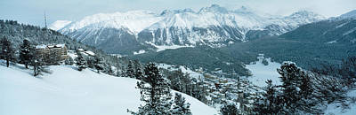 Winter, St Moritz, Switzerland Art Print