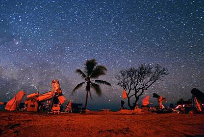 Stargazing Photograph - Winter Star Party Under Stars by Tony & Daphne Hallas