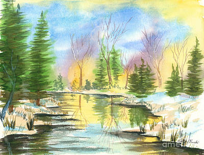 Painting - Winter Stillness by Walt Brodis
