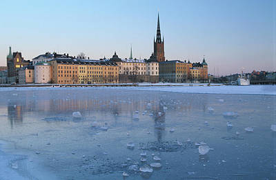 Ice In Water Photograph - Winter Stockholm Sweden by Panoramic Images