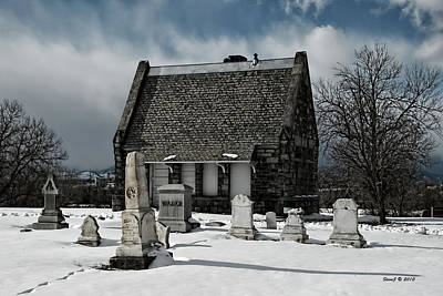 Art Print featuring the photograph Winter Stone House by Stephen  Johnson