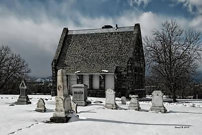 Winter Stone House Art Print by Stephen  Johnson